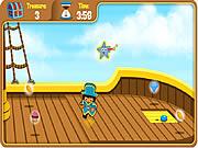 Caça de tesouro do barco do pirata de Dora