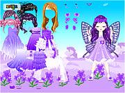 Fada da violeta da flor de março