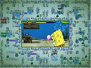 Arremetida atlântica da barra-ônibus de Spongebob Squarepants Squarepants