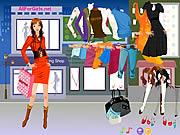 ホットファッションショッピングガール
