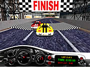 Spel van de Raceauto van de verdrukte 3D
