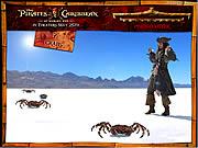 Piraten des karibischen Whack eine Krabbe