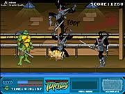Tartarugas adolescentes de Ninja do mutante - rixa da rua do clã do pé