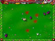 De Zombie van de Moordenaar van de kettingzaag tegen Leuke Kleine Konijntjes