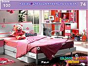Alphabets cachés par chambre à coucher de filles